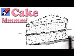 How to draw a Slice of Cake Real Easy video