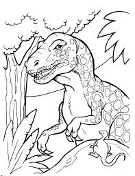 Dot Dinosaur Coloring Page Free Printable Pages Train Baby Realistic