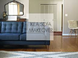 Karlstad Sofa New Legs by This Little Miggy Stayed Home Ikea Sofa Makeover
