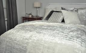 White Velvet King Headboard by Kevin O U0027brien Studio Bedding Hand White Knotted Velvet Quilt