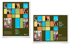 Elegant Day Care A3 Tri Fold Brochure Template