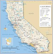 High Resolution M California Road Map Detailed