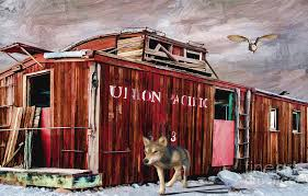 caboose l of a caboose painting by l wright