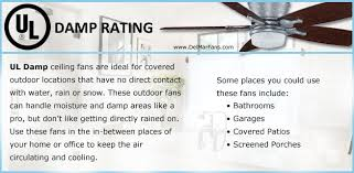 Ul Damp Rated Ceiling Fans by Ceiling Fans And Your Outdoor Living Space