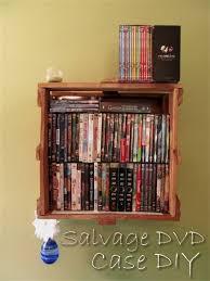 salvage dvd shelf storage diy