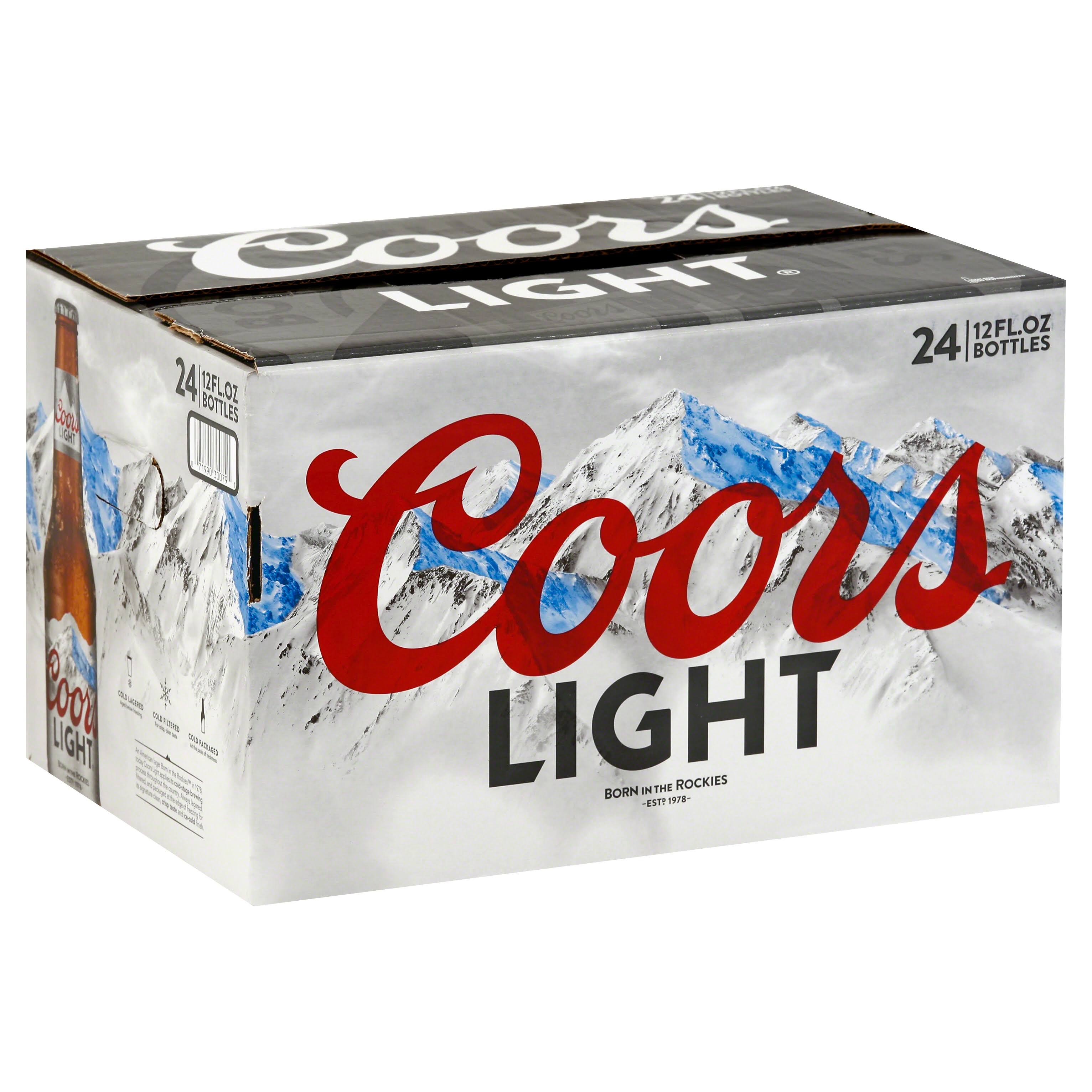 Coors Light Beer - 24x12oz