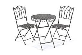 Folding Patio Chairs Amazon by Greenhurst 2 Seater Metal Elegant Versailles Folding Patio Set
