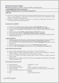 Sample Resume For 2 Years Experienced Software Engineer Developer Examples Unique Database