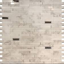 sle stainless steel carrara white marble mosaic tile