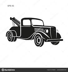 100 Tow Truck Vector Old Vintage Tow Truck Vector Illustration Retro Service Vehicle