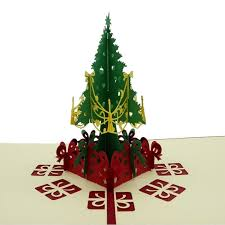 3D Pop Up Christmas Cards Greeting Handmade Paper Post Card Personalized Keepsakes Postcards Wedding Birthday Decor