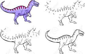 Tyrannosaure De Dessin Animé Illustration Vectorielle Coloriage Et