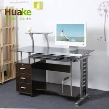 Tempered Glass Computer Desk by Small Long 120 60 High 74cm Wide White Tempered Glass Computer