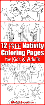 Nativity Coloring Pages For Kids