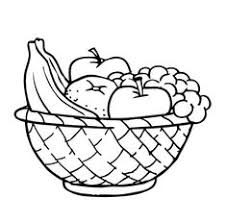 Awesome Collection Of Printable Coloring Pages Fruit Basket In Service