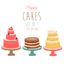 Cake clipart hand drawn 1