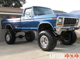 100 Old Lifted Trucks Blue Ford 4x4