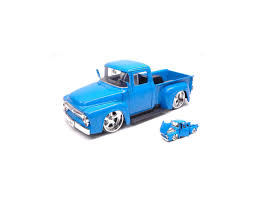 Jada JADA99044 FORD F-100 PICK UP 1956 BLUE JUST TRUCKS 1:24 Modellino