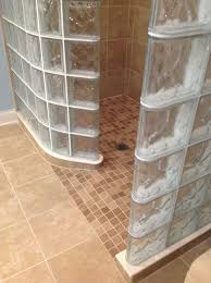 bathroom cool glass block shower design ideas with tile ready