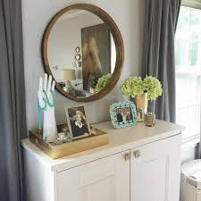 Threshold Barrel Chair Target by Round Decorative Wall Mirror Wood Barrel Frame Threshold