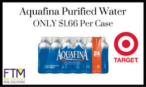 Target Aquafina Purified Water ONLY 166 Per Case 9 11