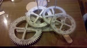 Free Scroll Saw Wooden Gear Clock Plans by Wood Gear Clock Project Kustom U0027s By Kent