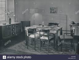 das esszimmer nussbaum und ahorn möbel 1942 artist