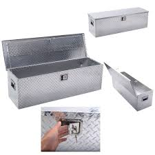 100 Truck Chest Tool Box Giantex 49x15Aluminum Tote Storage For Pickup Bed