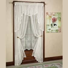 Anna Lace Curtains With Attached Valance by Decorating With Lace Curtains