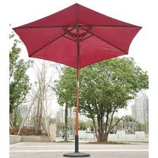 100 Wooden Parasol Outsunny 25m Umbrella Red Wine Or Coffee Home Done
