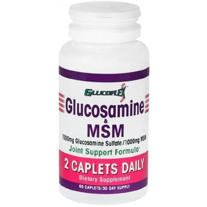 Glucoflex Glucosamine and MSM Joint Support Formula Supplement - 60 Caplets