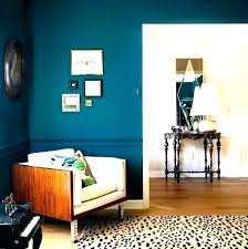 Teal Accent Wall In Bedroom Modern Wallpaper