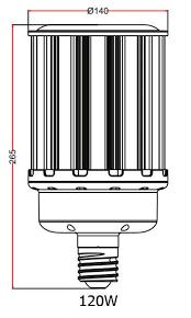 120 watt ballast compatible led corn light metal halide replacement ul