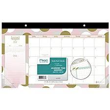 Decorative Desk Blotter Calendars by Amazon Com Orange Circle Studio 2018 Decorative Desk Blotter