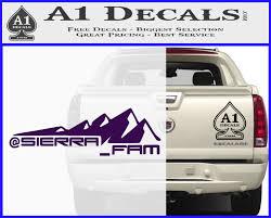 100 Truck Decals For Girls Sierra Fam D1 Decal Sticker A1