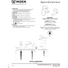 Moen Darcy Faucet Specs by Moen 6810 Method Chrome One Handle Bathroom Faucets Efaucets Com