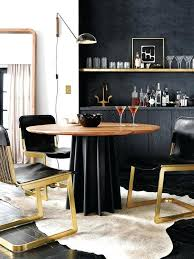 Black And Gold Kitchen Table Best Ideas About Gold Dining Rooms On