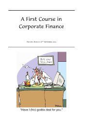 A First Course In Corporate Finance