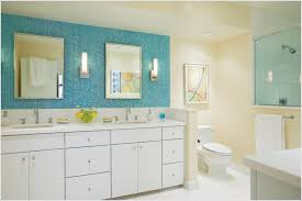 Blue Mosaic Bathroom Mirror by Mirror Backsplash Modern U2013 Home Design And Decor