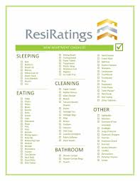 Printable Apartment Checklist 18