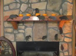 Halloween Fireplace Mantel Scarf by Halloween Rats Mantel The Blog At Fireplacemall