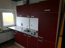 küche küchenzeile mit e geräten rot