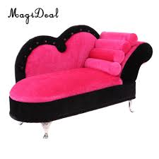 US $21.91  1/6 Scale European Style Rosy Chaise Lounge Recliner Sofa Dolls  House Furniture For 12 Inch Hot Toys Action Figure Acc-in Furniture Toys ...