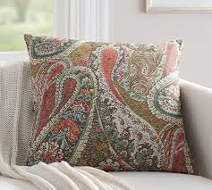 Pottery Barn Decorative Pillow Inserts by Zia Paisley Reversible Pillow Cover Pottery Barn