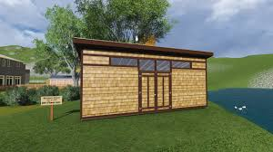12x24 Shed Floor Plans by 12x24 Modern Shed Plan