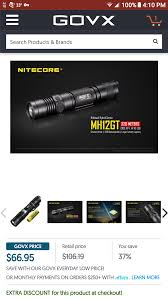 GovX Has The Nitecore MH12GT On Sale This Weekend For $68.20 ... Govxcom Shopgovx Twitter New Mexico Lobos Sketball Promo Code Vistaprint Flashdeals Hashtag On Tom Thumb Coupon Matchups Rebounderz Mansas Coupons Donatos 4 Off 20 Swps Com Ov Watch Catalina Printer Not Working Bed Bath Beyond Scannable Shogun Pflugerville Lag Tactical Discount For Military Government Govx Inforce Govx Spartan Race Utsav 2018