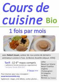 cour de cuisine rennes ibb ateliers de cuisine bio avec la bonne assiette ibb