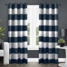 Navy And White Striped Curtains Uk by Colorful Curtains Striped Curtains Blackout Living Room Ready