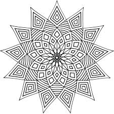 Hard Mandala Coloring Pages Printable Easy For Adults Pictures Geometric Design Full Size