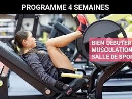 programme de musculation pour femme en salle de sport niveau